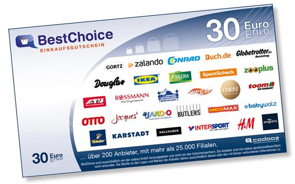 Best Choice Gutschein Wert 30
